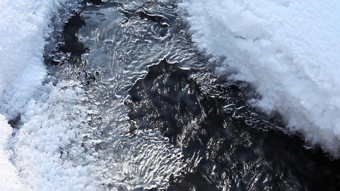Snow, ice and water Stock Video Footage