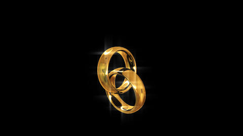 Two golden rings. Engagement. Looping Animation