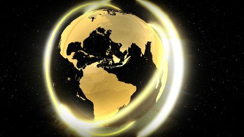 Golden Globe Stock Video Footage