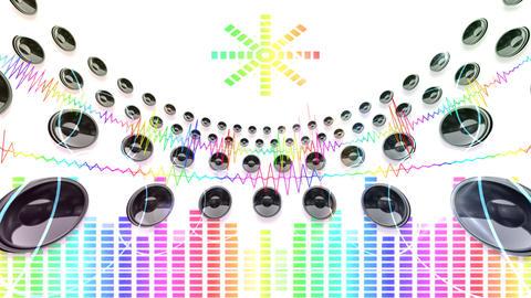 DJ Sound C4d Stock Video Footage
