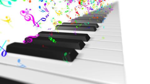 Music keyboard 1b Stock Video Footage