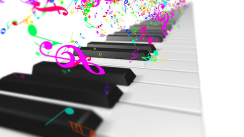 Music keyboard 1b Animation