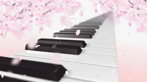 Music keyboard 1s Stock Video Footage