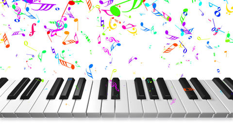 Music keyboard 2b Stock Video Footage