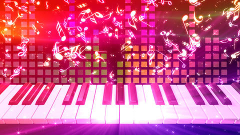 Music keyboard 2d Stock Video Footage