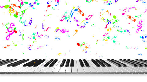 Music keyboard 3b Animation