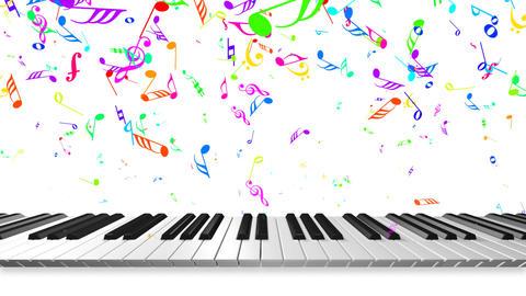 Music keyboard 3b Stock Video Footage
