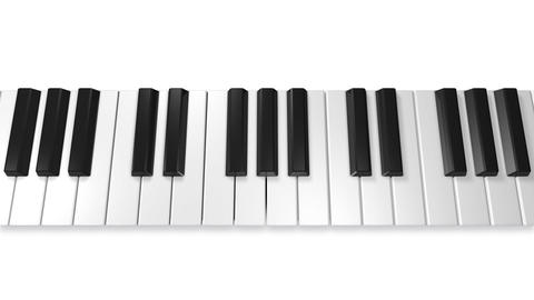 Music keyboard 4a Stock Video Footage