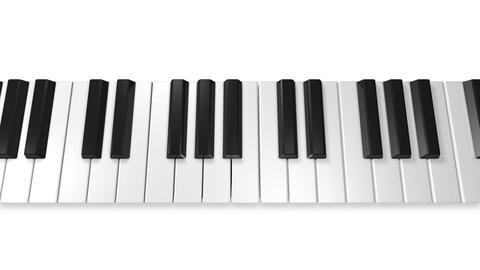 Music keyboard 4a CG動画