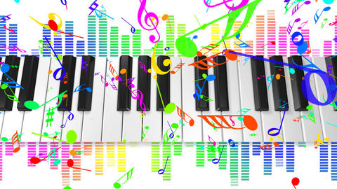 Music keyboard 4c HD Animation