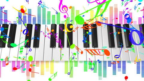 Music keyboard 4c HD Animation