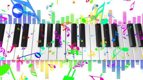 Music keyboard 4c HD Stock Video Footage