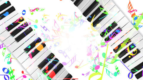 Music keyboard 5b Animation