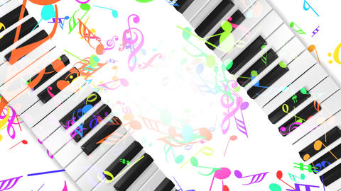 Music keyboard 5b Stock Video Footage