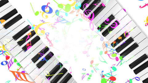 Music keyboard 5b Stock Video Footage