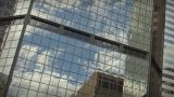 1184L City Skyscrapers Urban Buildings Architecture Windows Clouds Reflections stock footage