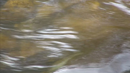 River water flow extreme closeup Stock Video Footage