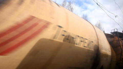 oncoming train with cargo Stock Video Footage