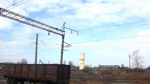 motion near railroad junction Stock Video Footage
