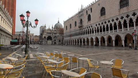 San Marco and people time lapse Stock Video Footage