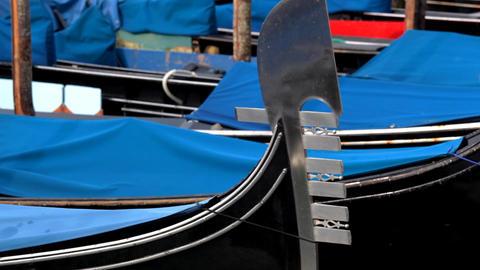 gondola moorage Stock Video Footage