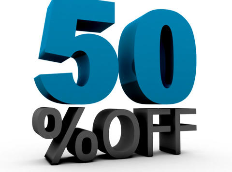 Fifty Percent Off (50%off) Stock Video Footage