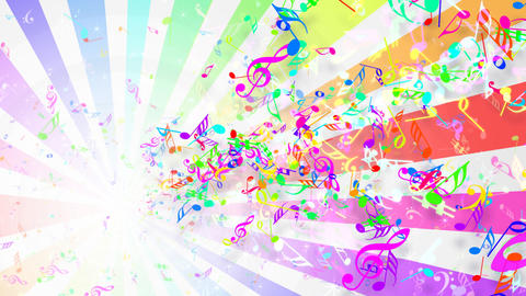 Music Notes Jet A1 CG動画