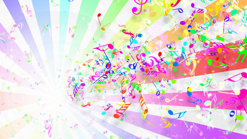 Music Notes Jet A1 Stock Video Footage