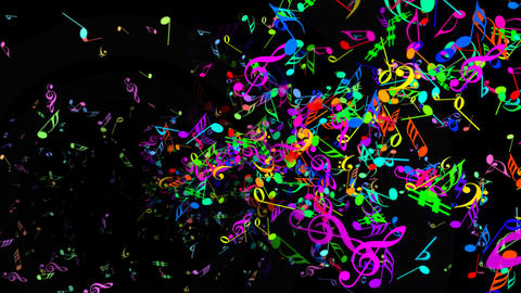 Music Notes Jet A3 Animation