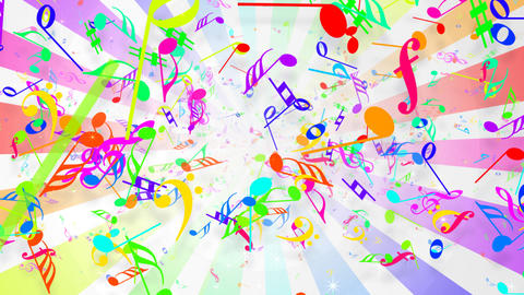 Music Notes Jet B1 Animation