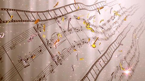 Music Score Wave C4 Stock Video Footage