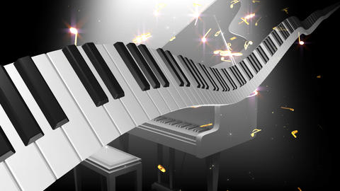 Music Score Wave P2 Stock Video Footage