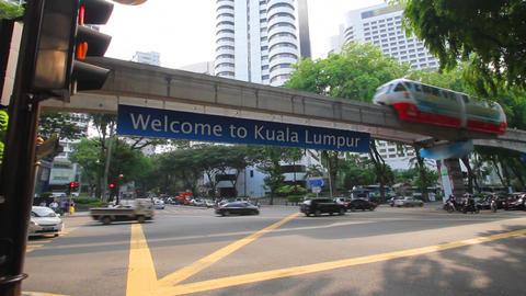 Kuala lumpur monorail Stock Video Footage