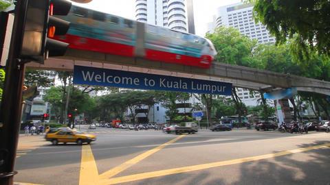 Kuala lumpur monorail Footage