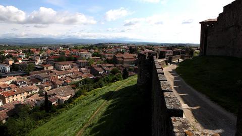 castle with cloudscape time lapse, France Footage