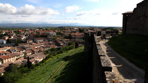 castle with cloudscape time lapse, France Stock Video Footage