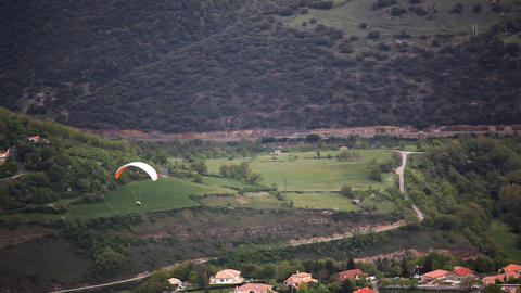 View on airframe and valley, France Stock Video Footage