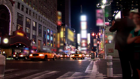 New York Timelapse Blurred Stock Video Footage