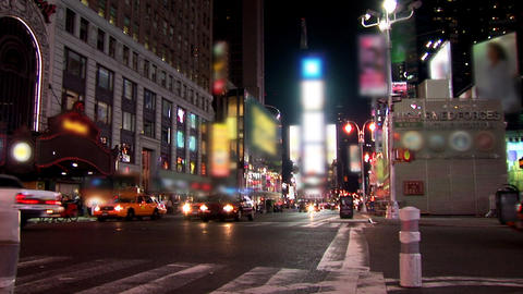 New York Timelapse Blurred Footage
