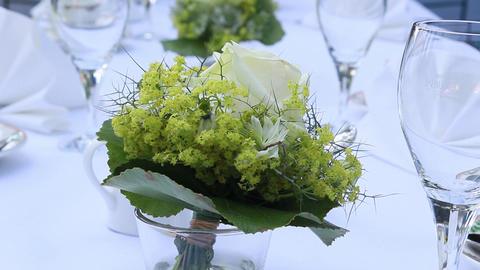 Flower Decoration stock footage