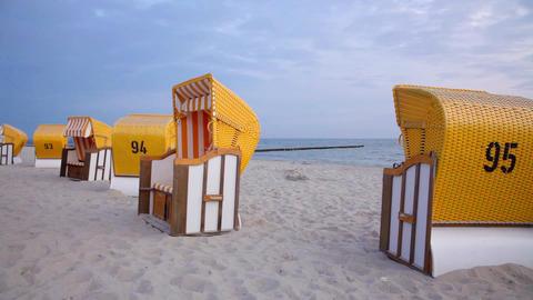 Beach Chairs stock footage