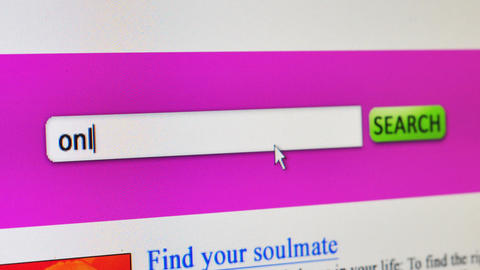 Online dating concept Animation