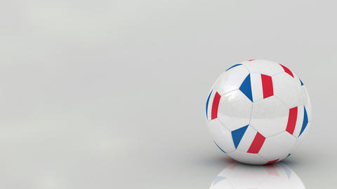 French soccer ball Animation