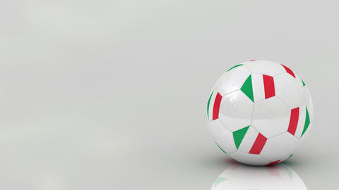 Italian Soccer Ball stock footage