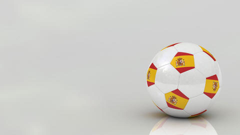 Spanish soccer ball Animation