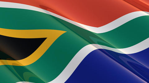 Seamless flag of South Africa Animation