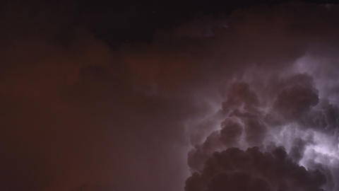 Time lapse of severe thunderstorm Footage