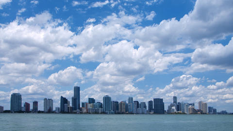 Miami skyline time lapse Footage