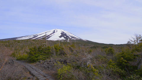 View of Mt.Fuji from the 5th point,in Yamanashi,Ja Footage