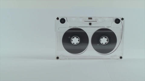 Audio Tape Isolated On White, Tape, Old Technology stock footage